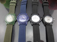 Wholesale Military Army Bomber Pilot Canvas Strap Sports Men Boy Quartz Wrist Watch color options by Utop2012