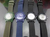 Wholesale Military Army Bomber Pilot Canvas Strap Sports Men Boy Quartz Wrist Watch color options by Utop2012