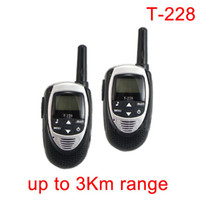 Wholesale UHF W CH Mini Walkie Talkie Two Way Radio T pair New Black A0833A
