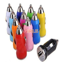 Wholesale Car Charger Mini USB Adapter for iphone iphone PDA mobile phone Mp3 MP4 Universal MA Hot Selling