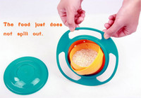 Wholesale Kid proof bowl Inner bowl rotates degrees Dishwasher safe Universal Baby gyro Bowl Rotating Flying Saucer Toy