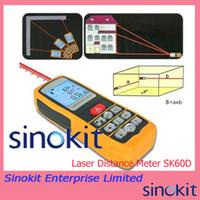 Wholesale 60m ft Laser Distance Measure SK60D Area Volume Meter Range Finder