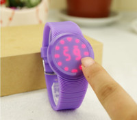 Wholesale 2013 Round Shape New Slim Touch Watch Touch Screen LED Watch Sports Unisex watches edison2011