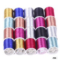 Wholesale ZBR Rolls Box Mixed Spool Machine Embroidery Sewing Floss Thread Cords Cross stitch Embroidery Threads Beading Wires Craft Findings