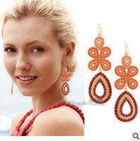Wholesale Blue And Coral Colors Capri Chandelier Earrings Trendy Lady s Coral Earings Jewelry Valentine Gift
