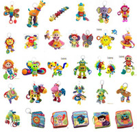 Wholesale Lamaze Toy Crib toys with rattle teether Infant Early Development Toy stroller music Baby doll toy Lamaze Cloth Book Books Style Choose