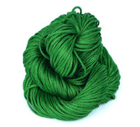 Wholesale NI17 Green M mm Chinese Knotting Nylon Cords String for Shamballa Bracelet Braided Threads Macrame Rattail Rope Jewelry Findings