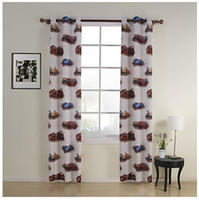 Wholesale Two Panels Cars Print Kids Energy Saving Kids Curtains