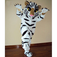 Wholesale Hot white tiger mascot costumes EPE professional Halloween Party Fancy Dress Adult Size