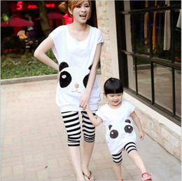 Wholesale New summer parent child mother daughter han edition two piece panda sequins parent child outfit sundress and daughter of mother and daughter