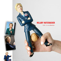 Wholesale 9inch Eco Friendly Hillary Funny Nut Tool Figure Doll Toys Funny Nutcracker Novelty Great Gift Nuts clip with retail package