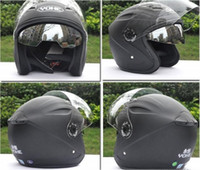 Wholesale dual lens half face helmet Battery car helmets Matte black bimirror summer YOHE knight Racing All lining unpick and wash