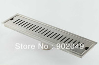 Wholesale Stainless Steel Chrome Plated Shower Linear Drain Bathroom Drain KL F CO30 mm Diameter50mm
