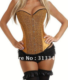 Plus size Sequin Burlesque Overbust Corset sexy Intimates slimming underwear women clothes black red yellow blue color Q5206