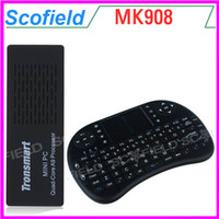 Wholesale Tronsmart MK908 With Air Mouse Mini Keyboard RK3188T Quad Core Android Smart Mini TV Box IPTV HDMI PC Stick Dongle G G Blutooth