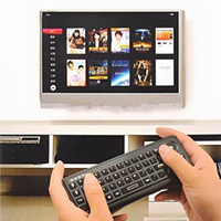Wholesale New In Mini G Wireless Keyboard Trackball Mouse IR Remote Control For Smart TV Set Android TV Box HTPC PC