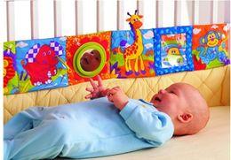 Promotion tissu lamaze LIVRAISON GRATUITE lamaze amusant lit multifonctionnel autour multicolore livres en tissu baby baby toy