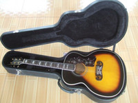 Wholesale aaa Hot Sell Spruce Vintage Sunburst J200 BK Acoustic Guitar Strings Folk Guitars Case