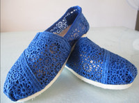 Slip-On ballet sneakers - 2016 NEW women Classic lace canvas shoes Ballet shoes flat shoes crochet shoes Plain Casual Sneakers