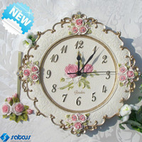 Quartz Analog   Home Art Decor Creative Pastoral Noble European Style Mute Movement Wall Clock