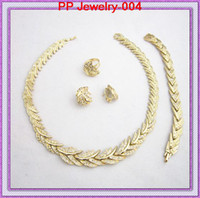 Wedding Jewelry Sets Celtic Gift High Quality Sparkle Rhinestone Crystal Studded African Costume Gold Jewelry Sets 004 Wedding Jewelry