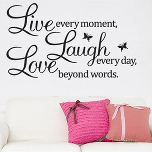 S5Q DIY Live Laugh Love Quote Vinyl Decal Removable Art Wall Stickers Home  Decor AAABPY Wall Stickers Wall Decal Home Decor Online With $6.56/Piece On  ... Part 97