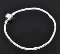 Wholesale HOT DIY Silver Plated Snake Chain Bracelet Fit European Beads Fashion Jewelry Findings