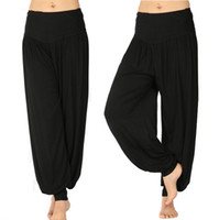 Cotton belly dance harem pants - S5Q Women Lady Harem Yoga Cotton Comfy Long Pants Belly Dance Boho Wide Trousers AAABOF