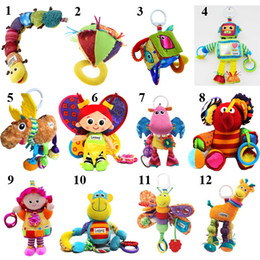 Wholesale Pretty Lovely Lamaze Crib Toys Baby Doll Toy Rattle Teether Infant Early Development Toy Mixed Style