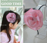 Wholesale 2013 hot Children s hair accessories South Korea cloth art temperament of camellia hair band