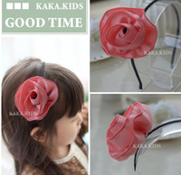 Other   Sample order-2013 new Children's hair accessories South Korea cloth art temperament of camellia hair band