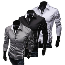 Wholesale S5Q Style Design Men s Shirts High Quality Casual Slim Fit Stylish Dress Shirts AAABOZ