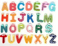 Wholesale Children s Toys Wooden Alphabet Fridge Magnets One Set have Puzzle toys for Kids