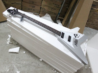 Wholesale Top Musical instruments Gray Flying V Electric Bass Guitar