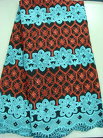 Wholesale New coming beautiful flower design african voice embroidery lace cotton fabric