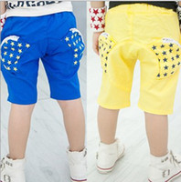 Casual Pants   2013 Hot Fashion Children summer clothes baby boys causual pants star printing pockets shorts fashion casual pants