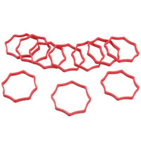 Wholesale New tattoo supply Plum Shape Natural Rubber Bands Supplies for Tattoo Machine Red WS111