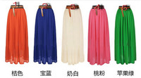 Wholesale 2013 new European and American retro bohemian chiffon dress maxi skirt mopping the floor skirt big skirt beach