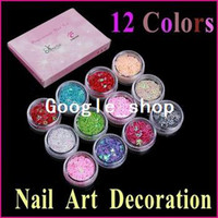 Nail Art 3D Decoration Nail Art Rhinestones Nail Glitter 5 sets lot 12 Colors Nail Art Glitter Nail Art Acrylic Hollow Star Multi Design Decoration Tips Nail Tools Set ,Free Shipping