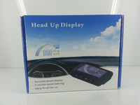 Wholesale HUD car Vehicle Head Up display System Show Speed Water Temperature RPM Overspeed On Windshield