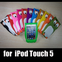 Wholesale Newest Cartoon Owl Silicon Rubber Case for iPod Touch Soft D Protective Back Shell DHL