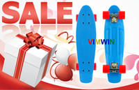 """PP material 22 inch Blue free shipping 22"""" Penny Complete blue Penny Board Skate Australia """"Nickel"""" Cruiser Skateboard"""