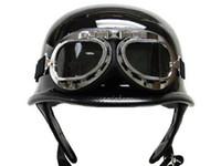 Wholesale Aviator Pilot Motorcycle Half helmet GogglesFF6001