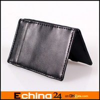 Wholesale Magic Wallet Fashion Purse Wallets Money Clip Moneybag Leather Business Card Holder