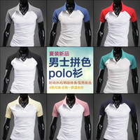 Men Cotton Polo Drop shipping Men's Short Sleeve Fashion SportsT-shirt 8 Colors Size:M-XXL CL0206