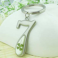 For Apple Charm Clover Access Key Chain Happy Green Clover Pendant Personalized Key Chain Cheap Cell Phone Accessories 10pcs lot LP021