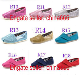 Wholesale 2013 NEW Children s or girl s kind s Classic comfortable Tom canvas shoes EVA casual glitter Flat shoes shoe pairs