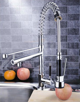 Wholesale Pull UP amp Down With Sprayer Kitchen Sink Mixer Tap Chrome Faucet DH