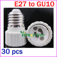 Wholesale Freeshipping E27 to GU10 Adapter LED Light Lamp Bulbs Base Screw Socket Plug Converter