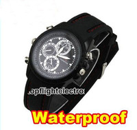 Wholesale spy device spy watch New GB DVR Watch Camera WaterProof Hidden Video Recorder Mini DV DVR Camcorder W02